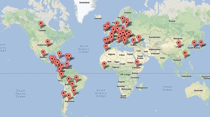 El mapa de los emprendedores
