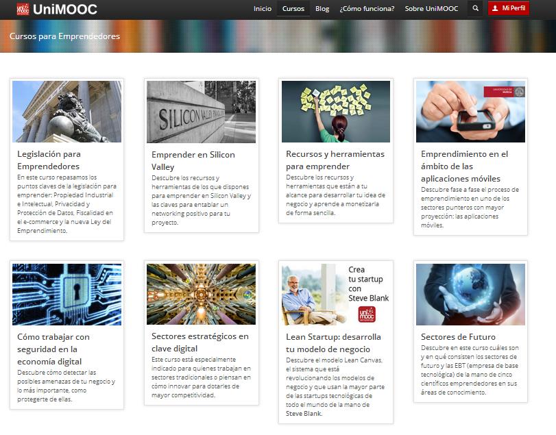 Unimooc, MOOC emprendedores, algunas estadísticas